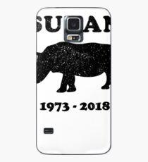RIP SUDAN, World's Last Male Northern White Rhino Case/Skin for Samsung Galaxy