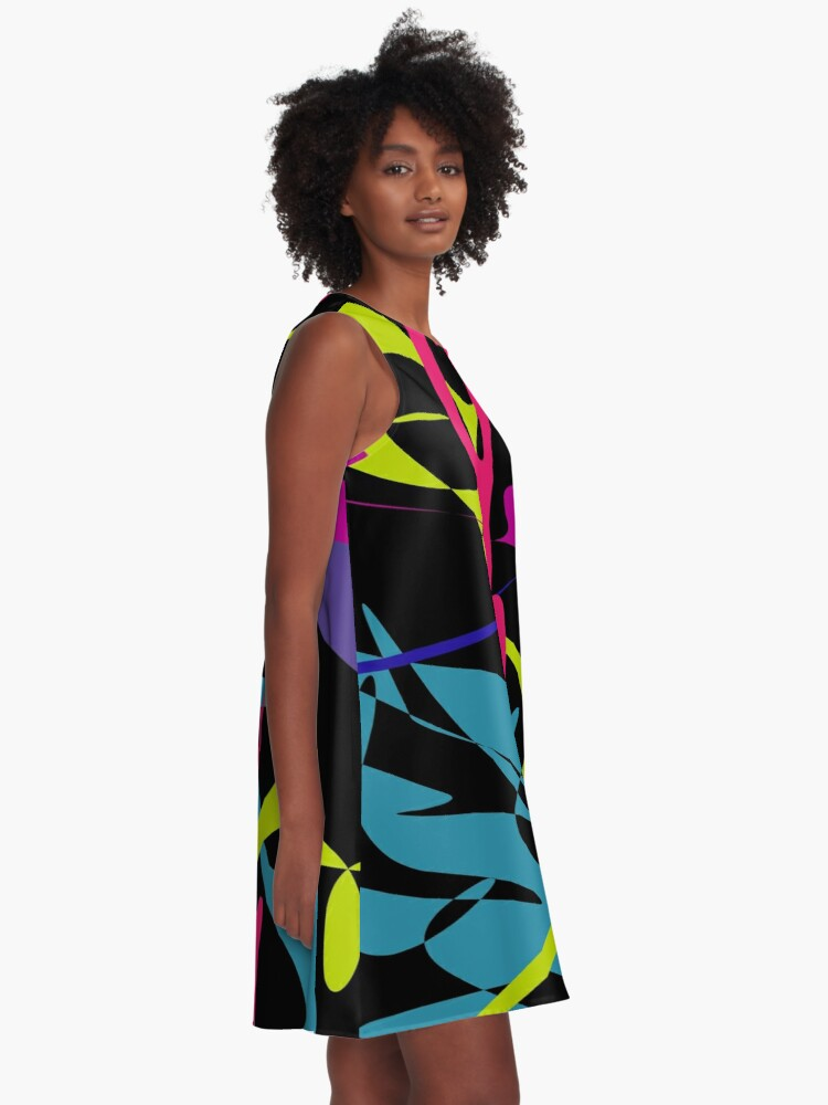Alternate view of Curved tangram A-Line Dress