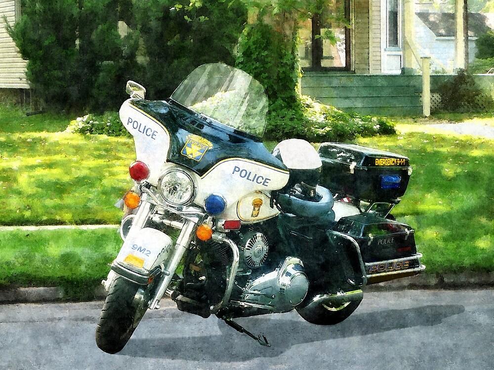 Police Motorcycle by Susan Savad