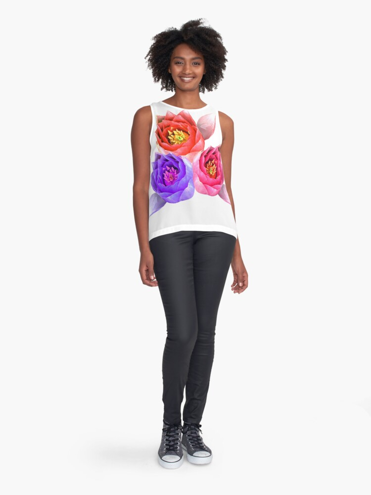 Alternate view of Water lilies Sleeveless Top
