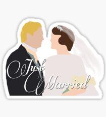 "DA: Mary e Matthew ""Just Married"" Sticker"