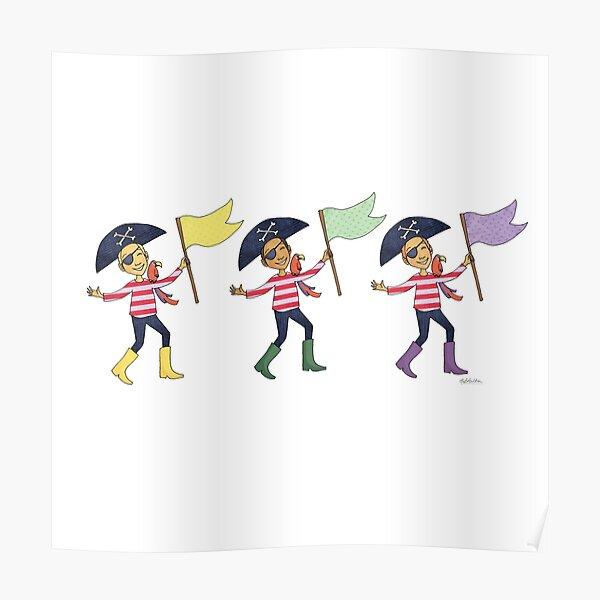 Happy Pirates Poster