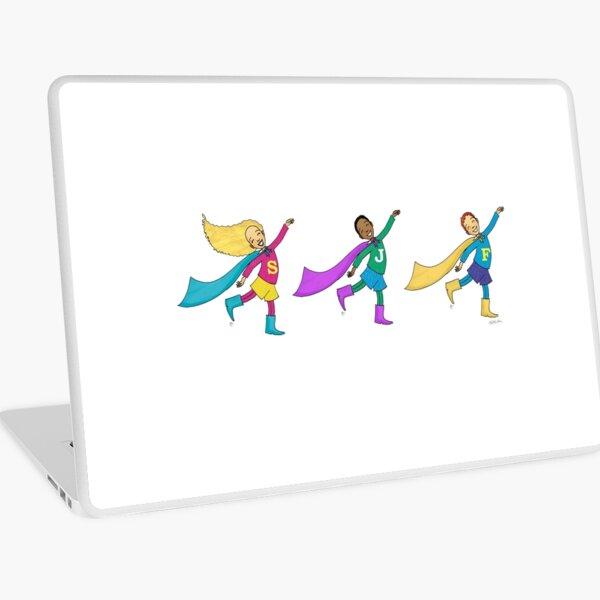 Smiley Super Heroes Laptop Skin