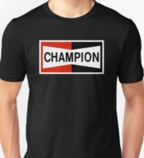 CHAMPION SPARK PLUG RACING CAR Unisex T-Shirt