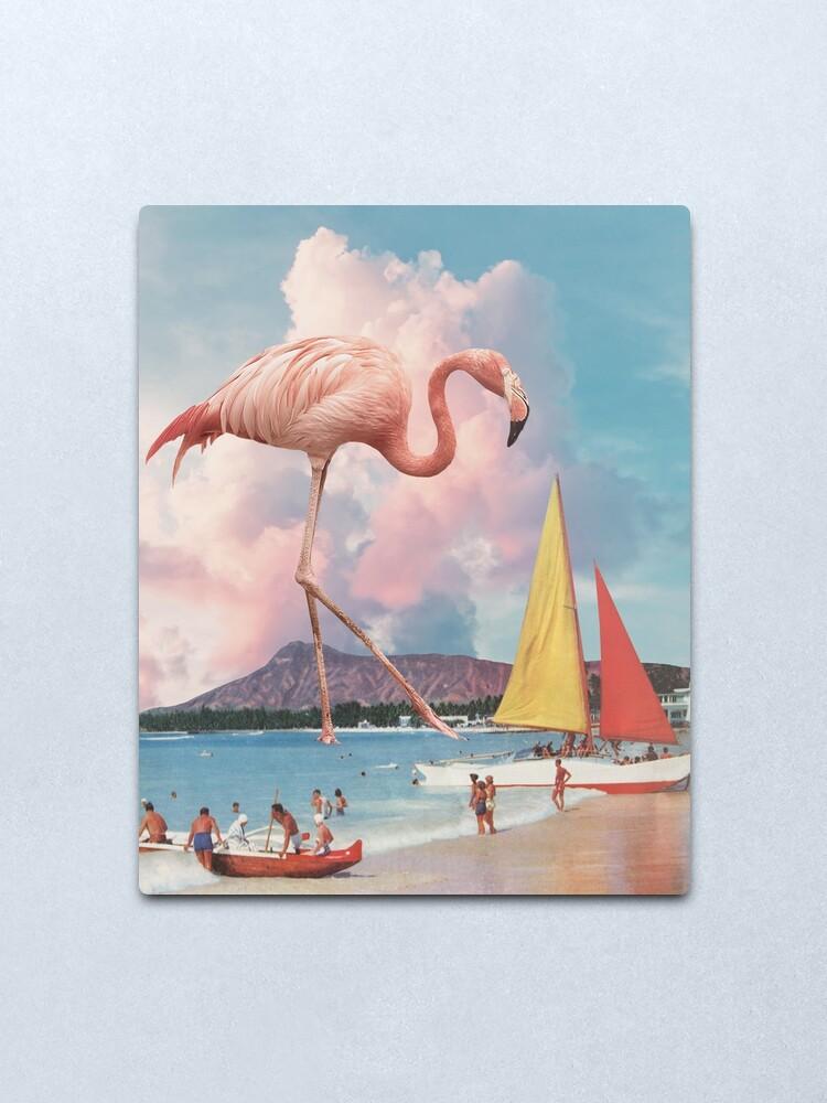 Alternate view of Flamingo Playground Metal Print
