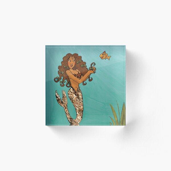 Beautiful Mermaid Acrylic Block