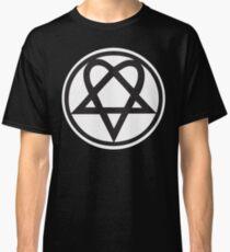 Heartagram - Black on White Classic T-Shirt