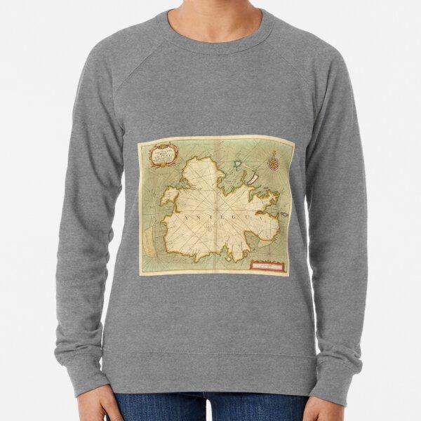 Vintage Map of Antigua (1702) Lightweight Sweatshirt