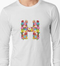 "Spring Flowers Alphabet Monogram ""H"" T-Shirt"