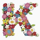 Spring Flowers Alphabet K Monogram by fatfatin