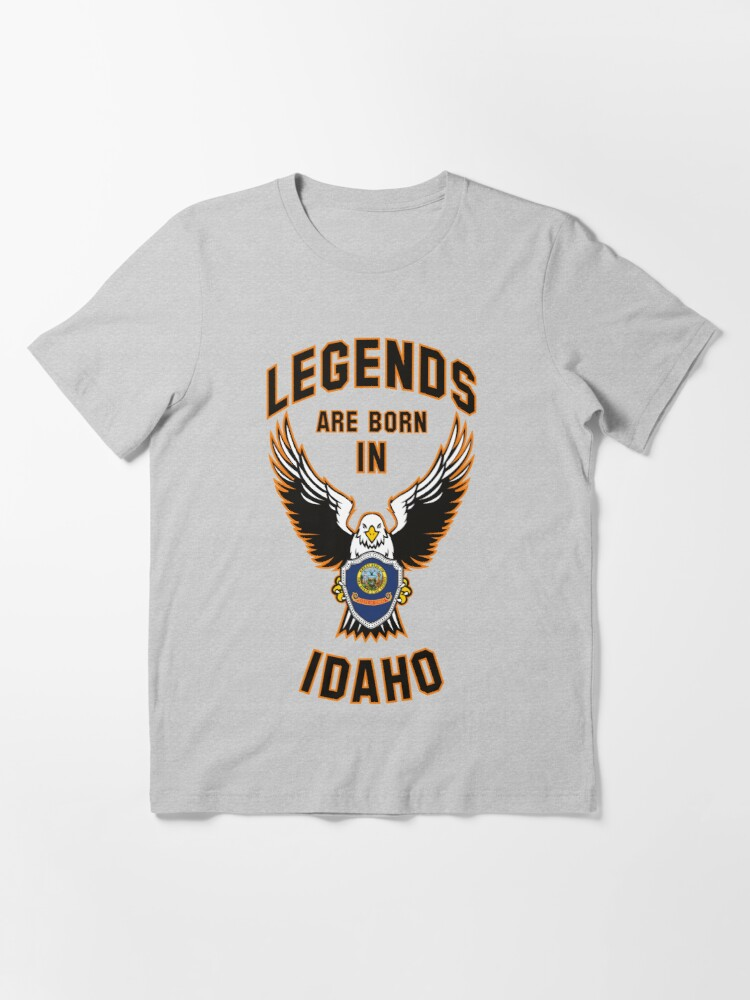 Alternate view of Legends are born in Idaho Essential T-Shirt
