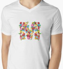 Spring Flowers Alphabet M Monogram T-Shirt