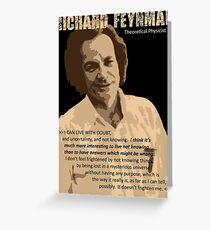 Richard P. Feynman, Theoretical Physicist (Sepia) Greeting Card