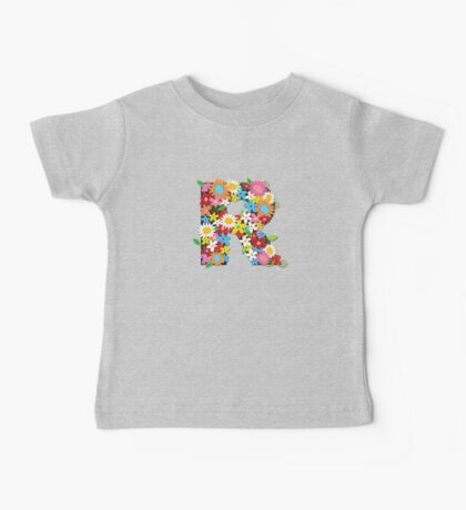 Spring Flowers Alphabet R Monogram Kids Clothes