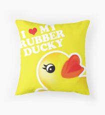 I Love My Rubber Ducky [iPad / iPhone / iPod Case, Print & Tshirt] Throw Pillow