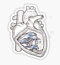 Ocean Heart Sticker