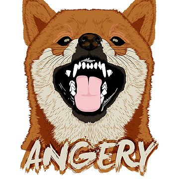 Angery Doge Tee For Shiba Inu Meme Lovers by sedderzz