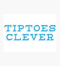 Tiptoes Clever  Photographic Print