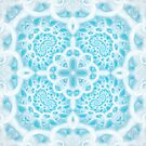 Blue Square Mandala by Kelly Dietrich