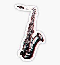 Saxophone Anaglyph Sticker