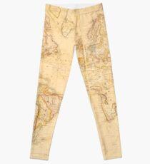 Vintage Map of The World (1818) Leggings