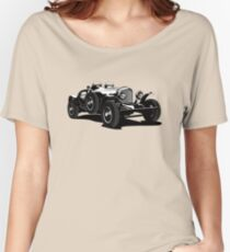 Vector vintage car Women's Relaxed Fit T-Shirt