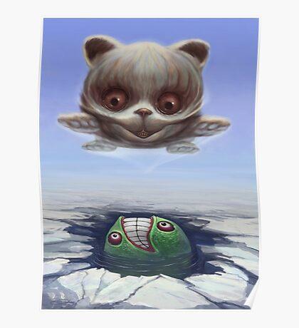 Arctic Flying Possum meets Wrong Fish Poster