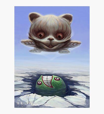 Arctic Flying Possum meets Wrong Fish Photographic Print