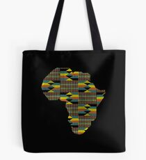 Africa Map African Continent Kente Green Tote Bag