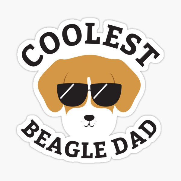 Coolest Beagle Dad Sticker