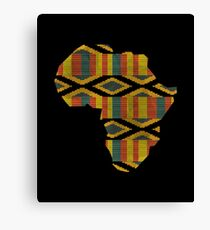 Africa Map African Continent Kente Classic Pattern Canvas Print