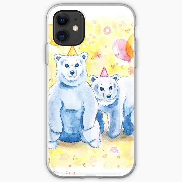 Birthday Bears | Whimsical Cute Animal Party iPhone Soft Case