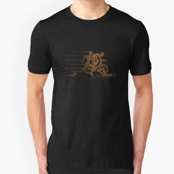 Triathlon Swim Bike Run Slim Fit T-Shirt