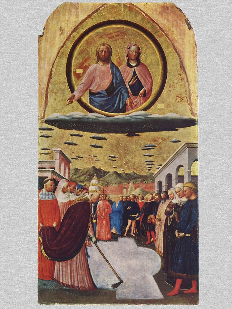 UFOs, in Ancient Art, The Miracle of the Snow, by Masolino da Panicale. by TOMSREDBUBBLE