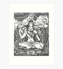 Lord Shiva and Shakti  Art Print