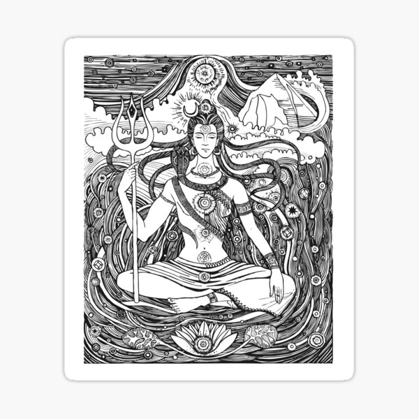 Lord Shiva Trishul Sticker Photo