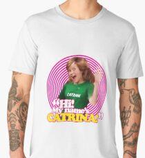 Hi! My name's Catrina - Pink Windmill Kids Men's Premium T-Shirt
