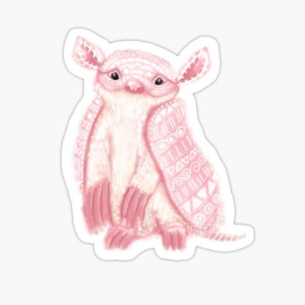 Pink Fairy Armadillo Spirit Animal Sticker