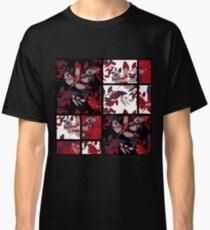 Patchwork retro autumn rowanberry pattern texture Classic T-Shirt