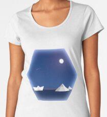 Geometric Antarctic Nights Women's Premium T-Shirt