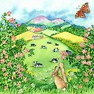Border Seasons Summer (watercolour on paper) by Lynne Henderson