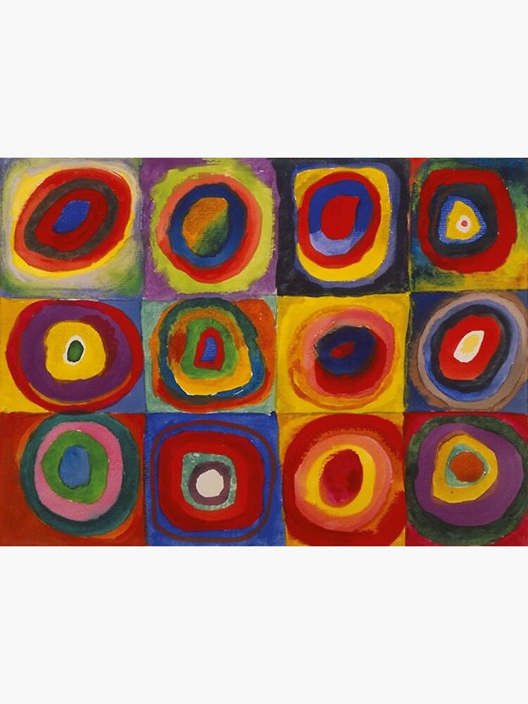 Wassily Kandinsky, Colour Study, Squares with Concentric Circles. by TOMSREDBUBBLE