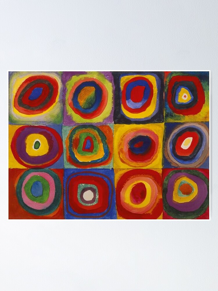 Alternate view of Wassily Kandinsky, Colour Study, Squares with Concentric Circles. Poster