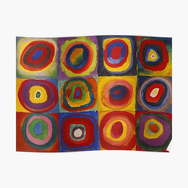 Wassily Kandinsky, Colour Study, Squares with Concentric Circles. Poster
