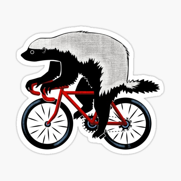Honey Badger On A Bicycle Sticker