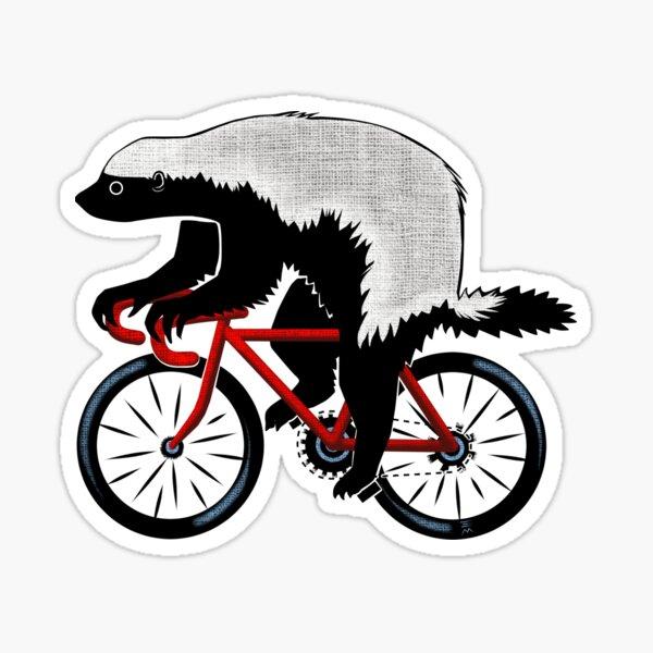 Blaireau de miel sur un vélo Sticker