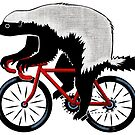 Honey Badger On A Bicycle by Ellen Marcus