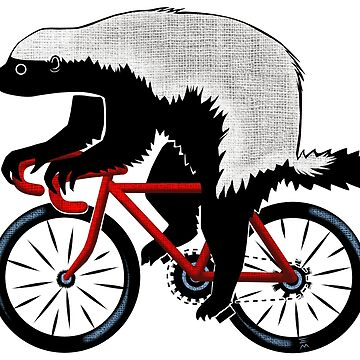 Honey Badger On A Bicycle by ellemrcs