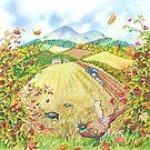 Border Seasons Autumn (watercolour on paper) by Lynne Henderson