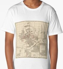 Vintage Map of Butte Montana (1909) Long T-Shirt